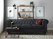 3-Sitzer Sofa Polsterbezug graphitgrau CHESTERFIELD neu