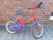 Rotes Kinderfahrrad 14 Zoll Radgrosse