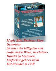 Magic-Blitz-Business-Shop Generator mit PLR Bonus