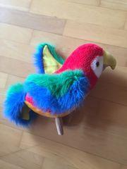 Papagei Stofftier ca 25 cm