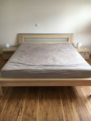 Doppelbett inkl Nachttische und Sideboard