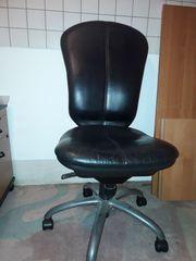Leder Stuhl schwarz Drehstuhl Schreibttischstuhl