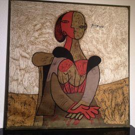 Seidendruck Bild P. Picasso