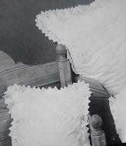 Nostalgie-Bettwäsche mit Häkelspitze unbenutzt