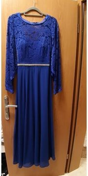 Royal blaues langes Abendkleid