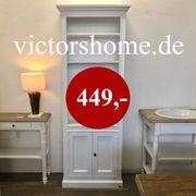 Weisses Landhausregal Bücherschrank Buchregal 82
