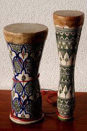 Marokkanische Trommeln 2 Stück