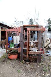 Holzspalter hydraulisch Spaltanlage liegend für