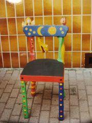 Rarität dekorativer Künsterstuhl mit Schlange