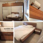 Schlafzimmer Schwebetüren Spiegelschrank Doppelbett Matratzen
