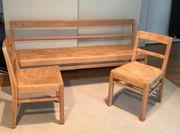 Kinderzimmermöbel 1 Kindersitzbank 2 Kinderstühle