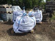 drei Big-Bags Basalt-Pflaster 9-11cm gut