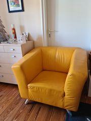 Leder-Couch Kombination