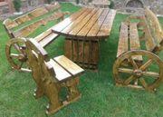 Pferdekutsche gartenmöbel aus Holz Tisch