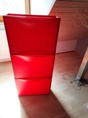 Ikea Trones Schuhschrank rot 3-teilig