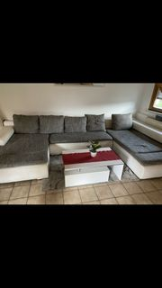 Sofa weiß grau mit 5