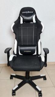 DXRacer Gaming Bürostuhl Schwarz Weiß
