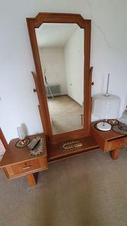 Schlafzimmer Frisierkommode Vintage mit Spiegel