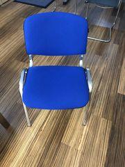 Bürostühle blau Chrom unbenutzt 10