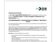 Sozialpädagoge Sozialarbeiter Diplom Bachelor w