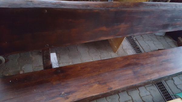 Holz Gartenbank Gestrichen Für Aussen Gebraucht In
