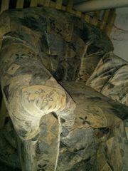 Schlafcouch 3-teilig mit Stuhl zu
