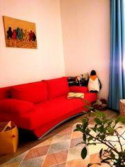 Schlafsofa 2-Sitzer mit Bettkasten rot