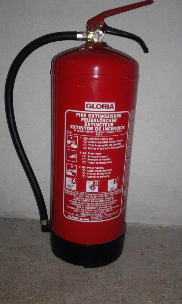 Gloria Feuerlöscher Pulverlöscher Dauerdrucklöscher 12Kg