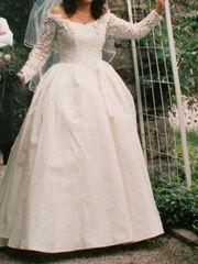Wunderschönes Hochzeitskleid Wildseide 38 40