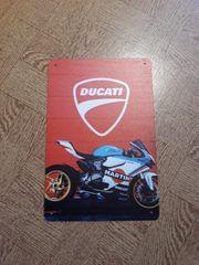 Ducati Blechschild Blech Bild neu