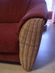 3-teilige Couch Garnitur terrakottafarben