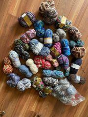 wolle Wollpaket Sammlung verschiedene Farben