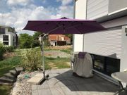 Sonnenschirm Pendelschirm lila Firma Doppler