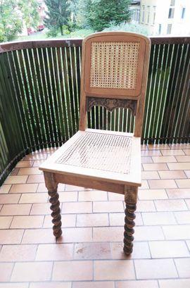 Bild 4 - Antiker Stuhl Klassischer Stuhl Eichenholz-Gewebestuhl - Nürnberg Hasenbuck