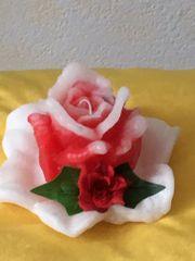 Dekokerze Blumenkerze Duftkerze Kerze Rose