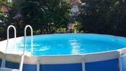 Gut erhaltener großer Aufstell-Pool rund