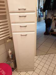 Gebraucht, Badschrank und Waschbeckenunterschrank weiß lackiert gebraucht kaufen  Röhrmoos