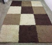 Teppich creme beige braun