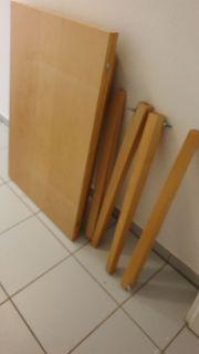 Holztisch ausklappbar zu verschenken