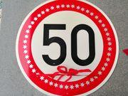 Verkehrszeichen Verkehrsschild 50 zul Höchstgeschwindigkeit