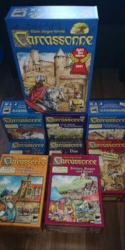 Carcassonne 8 große Erweiterungen