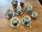 6 Teiliges Kaffe-Tee-Mokka- Service