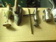 Alte messing und Silberteile