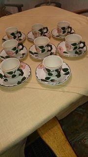 8 Kaffeetassen mit Unterteller Villeroy