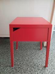 IKEA Selje Ablagetisch Nachttisch rot