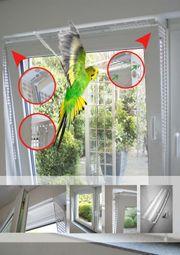 Kippfensterschutz für Vögel OHNE BORHEN