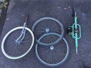 Räder und Hinterachse für Dreirad