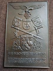 Luftwaffen Ehrenplakette- Ehrenschild Tüte Luftgau