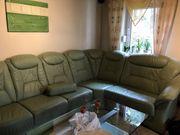 Ledercouch hochwertig mit Sessel und