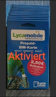 Lycamobile Prepaid Sim Aktivierte